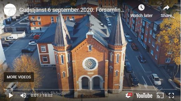 Gudstjänst 6 september 2020: Församling är en mötesplats