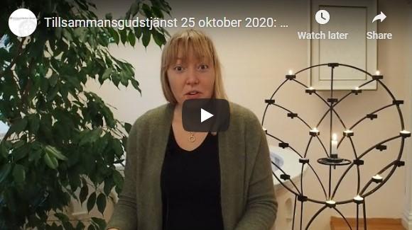 Tillsammansgudstjänst 25 oktober 2020: Filipperbrevet – Trots allt