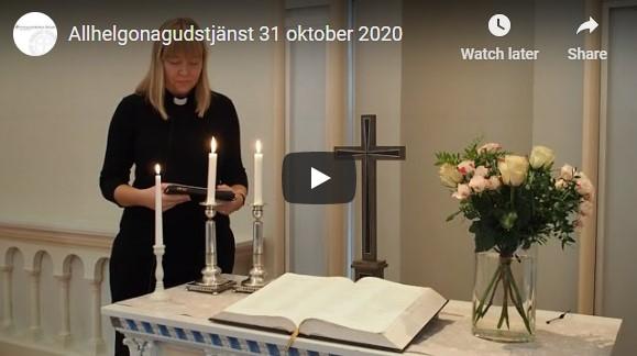 Allhelgonagudstjänst 31 oktober 2020